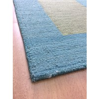 Handmade Wool Modern Blue/ Green 5x8 lt1452 Area Rug