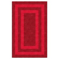 Handmade Red MB4A094A07 Border  5X8 Area Rugs