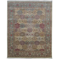 Traditional Hand Knotted Wool Multi Color 8' x 10' Rug - pr000547