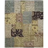 Modern Hand Knotted Wool Multi Color 8' x 10' Rug - pr000550