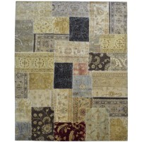 Modern Hand Knotted Wool Multi Color 8' x 10' Rug - pr000554