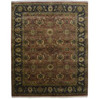 Traditional Hand Knotted Wool Teracotta 8' x 10' Rug - pr000556
