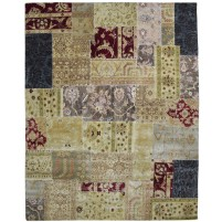 Modern Hand Knotted Wool Multi Color 8' x 10' Rug - pr000561