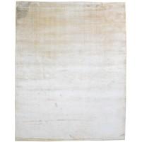 Modern Handloom Silk Beige 8' x 10' Rug - pr000618