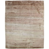 Modern Handloom Silk Brown 8' x 10' Rug - pr000620