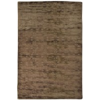Modern Handloom Silk Brown 5' x 8' Rug - pr000629