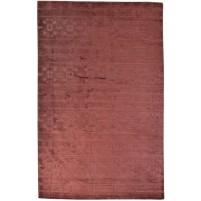 Modern Handloom Silk Red 5' x 8' Rug - pr000632