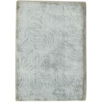 Modern Handloom Silk Grey 2' x 3' Rug - pr000640