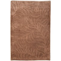 Modern Handloom Silk Brown 2' x 3' Rug - pr000647