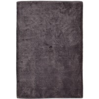 Modern Handloom Silk Charcoal 2' x 3' Rug - pr000653