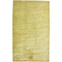 Modern Handloom Silk Gold 5' x 8' Rug - pr000662