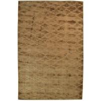 Modern Handloom Silk Brown 5' x 8' Rug - pr000666