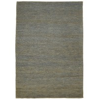 Modern Hand Knotted Jute Charcoal 5' x 8' Rug - pr000689