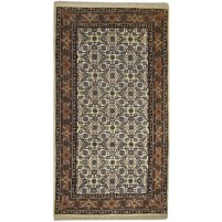 Traditional Hand Knotted Wool Ivory 3' x 5' Rug - pr000742