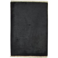 Modern Hand Knotted Silk Charcoal 2' x 3' Rug - pr000768