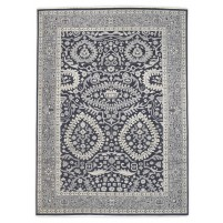 Traditional Hand Knotted Wool Black 8' x 11' Rug - rh000008