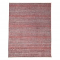 Modern Hand Knotted Wool Red 8' x 10' Rug - rh000013