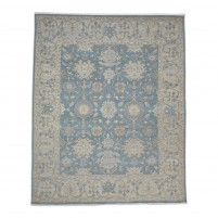 Traditional Hand Knotted Wool Blue 8' x 10' Rug - rh000014