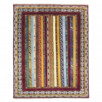 Traditional Hand Knotted Wool Red 8' x 10' Rug - rh000015
