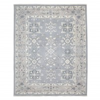 Traditional Hand Knotted Wool Grey 8' x 10' Rug - rh000016