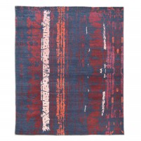 Modern Hand Knotted Wool Charcoal 8' x 10' Rug - rh000017