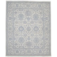 Traditional Hand Knotted Wool Ivory 8' x 10' Rug - rh000025