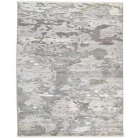 Modern Hand Knotted Wool / Silk Grey 8' x 10' Rug - rh000028