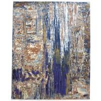 Modern Hand Knotted Wool / Silk Multi 8' x 10' Rug - rh000038