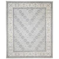 Modern Hand Knotted Wool / Silk Grey 8' x 10' Rug - rh000048