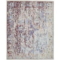 Modern Hand Knotted Wool / Silk Sage 8' x 10' Rug - rh000055
