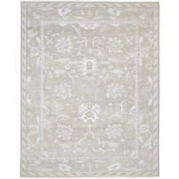 Traditional Hand Knotted Wool / Silk Sage 8' x 10' Rug - rh000062