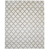 Modern Hand Knotted Wool ivory 8' x 10' Rug - rh000064