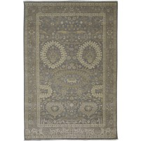 Traditional Hand Knotted Wool Brown 6' x 9' Rug - rh000087