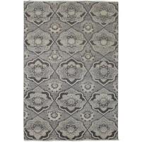 Modern Hand Knotted Wool / Silk Grey 6' x 9' Rug - rh000088