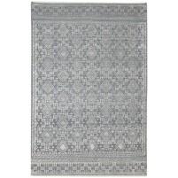 Modern Hand Knotted Wool / Silk Charcoal 6' x 9' Rug - rh000093