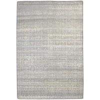 Modern Hand Knotted Wool / Silk Brown 5' x 8' Rug - rh000097