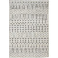 Modern Hand Knotted Wool / Silk Ivory 6' x 9' Rug - rh000099