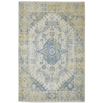 Traditional Hand Knotted Wool Ivory 6' x 9' Rug - rh000101