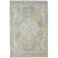 Traditional Hand Knotted Wool Ivory 6' x 9' Rug - rh000105