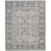 Traditional Hand Knotted Wool / Silk Beige 8' x 10' Rug - rh000109