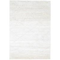 Modern Hand Knotted Wool / Silk Ivory 6' x 9' Rug - rh000115