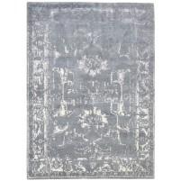 Modern Hand Knotted Wool Grey 5' x 7' Rug - rh000118