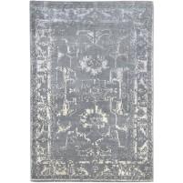 Modern Hand Knotted Wool Grey 5' x 7' Rug - rh000120