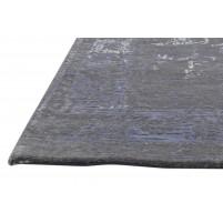 Modern Hand Knotted Wool Grey 4' x 6' Rug - rh000121