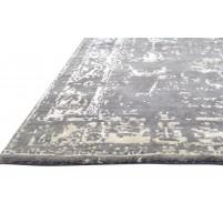 Modern Hand Knotted Wool Grey 4' x 6' Rug - rh000123
