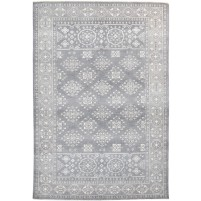 Traditional Hand Knotted Wool Grey 6' x 9' Rug - rh000135