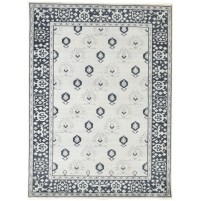 Traditional Hand Knotted Wool Ivory 5' x 7' Rug - rh000138