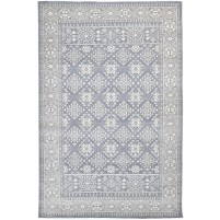 Traditional Hand Knotted Wool Grey 6' x 9' Rug - rh000140