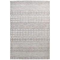 Modern Hand Knotted Wool / Silk Brown 6' x 9' Rug - rh000154