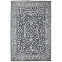 Traditional Hand Knotted Wool Black 6' x 9' Rug - rh000170